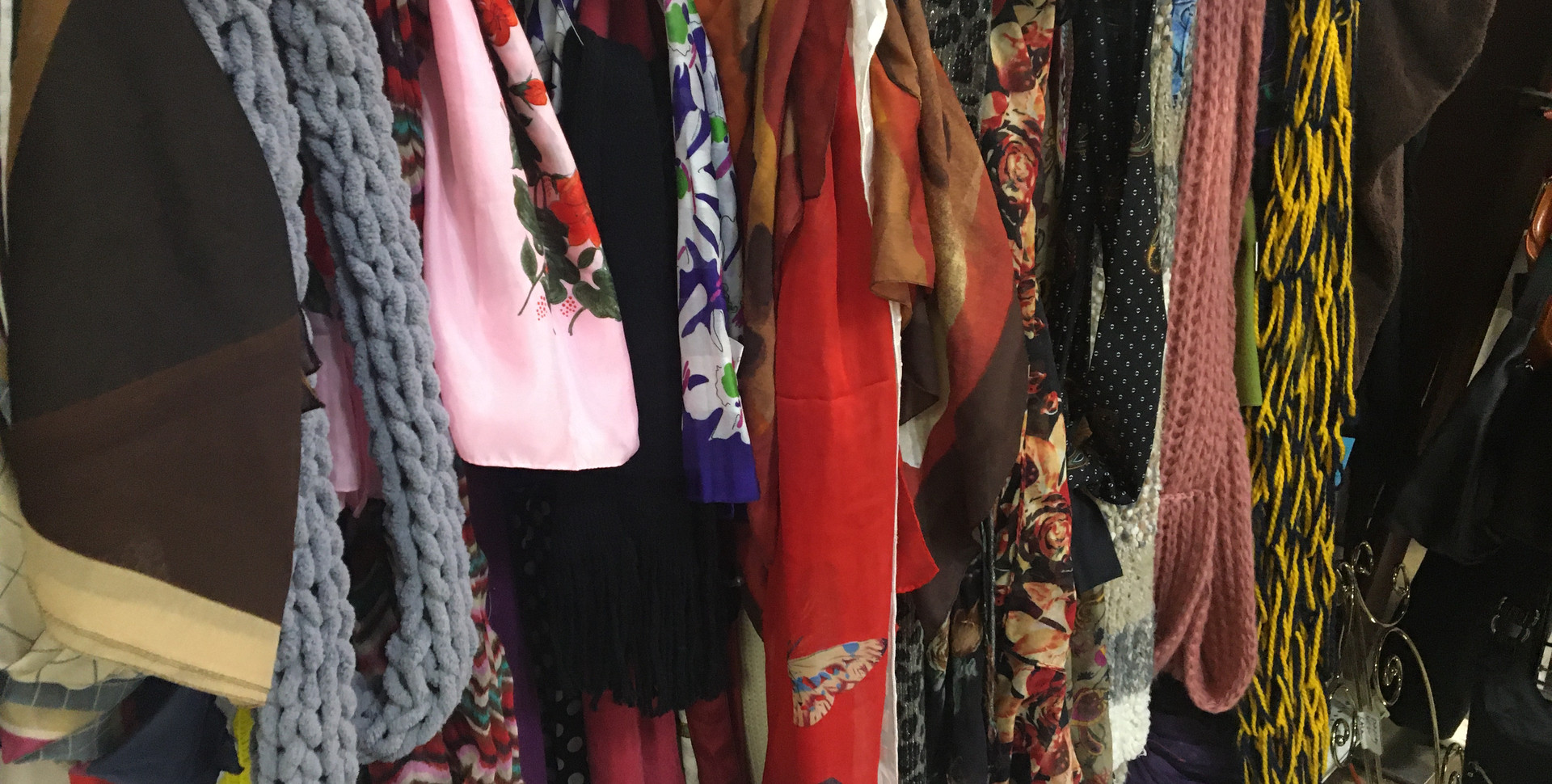 Scarves, purses, and accessories