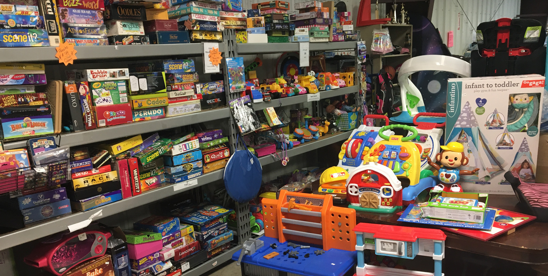 Toy and game section