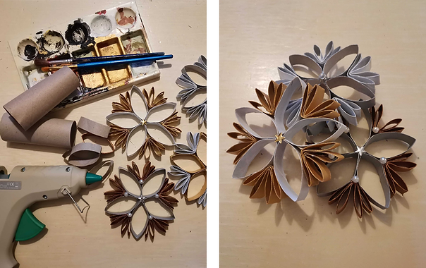 Christmas tip - Decoration from toilet paper cardboard rolls