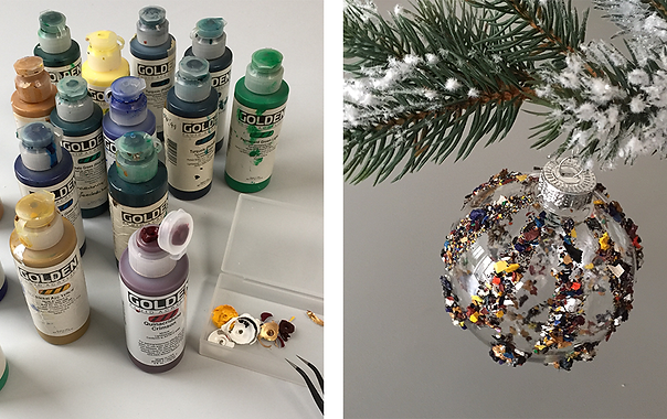 Christmas tip - Remnants of acrylics as bauble decoration