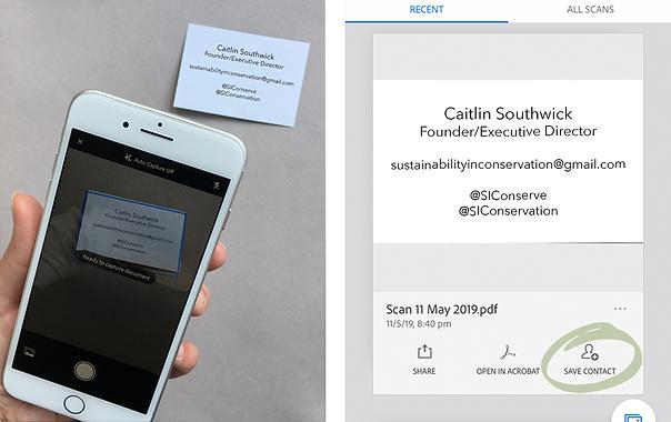 E-business cards