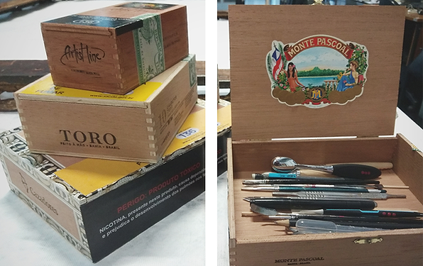 Tobacco boxes for tools