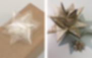 Christmas tip - Froebel stars and bows from Melinex or excess gift wrappings