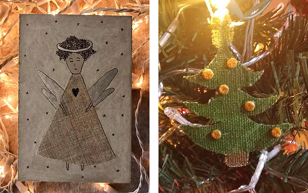 Christmas tip - cards and decoration from cut-offs