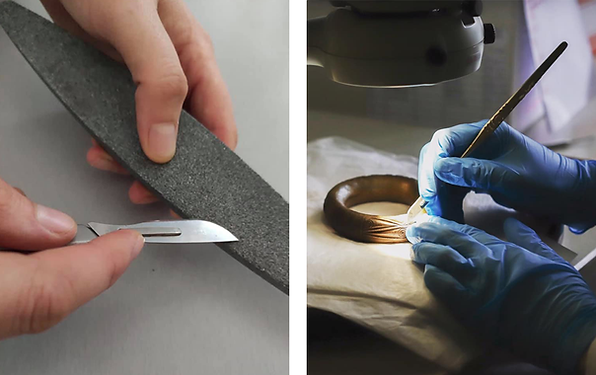 Extending the life of scalpel blades by sharpening