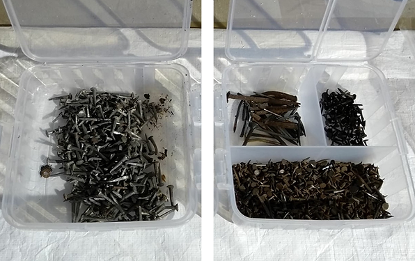 Collecting old nails