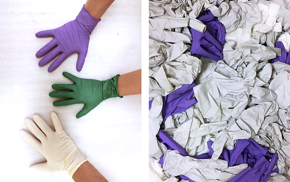 Recycling nitrile gloves