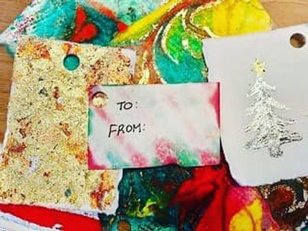 Christmas tip - Gift tags from blotting paper