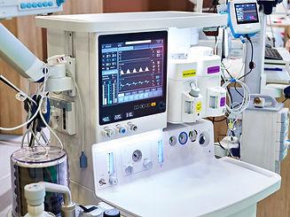 Inhalation anaesthetic machine with moni