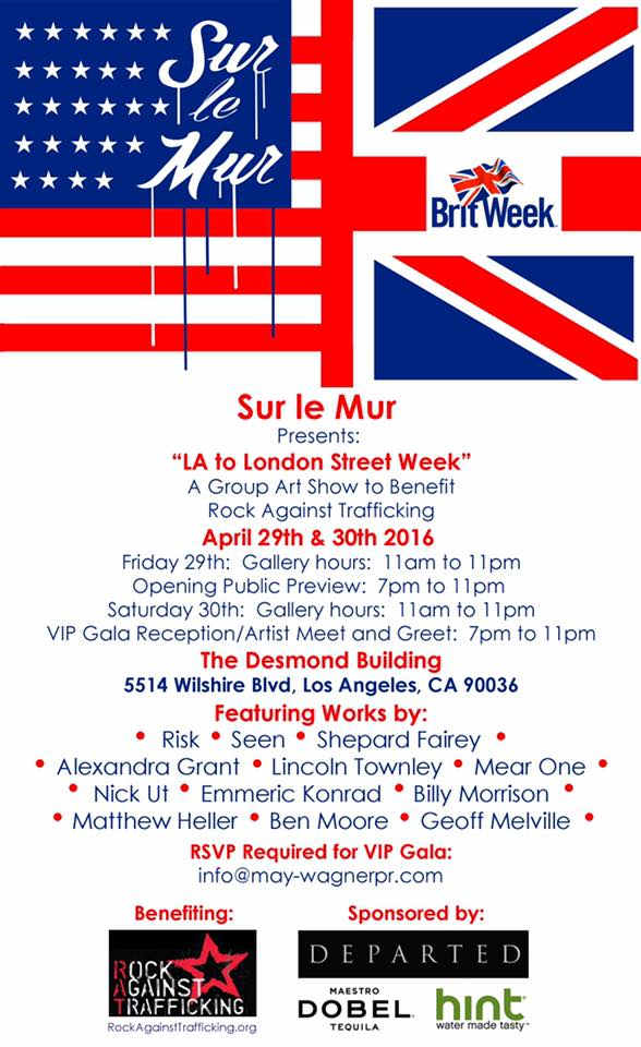 Sur le Mur's BritWeek LA flyer
