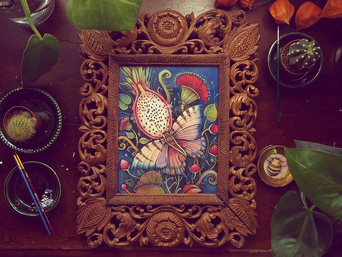 'Tropical Butterfly' Framed Original Painting