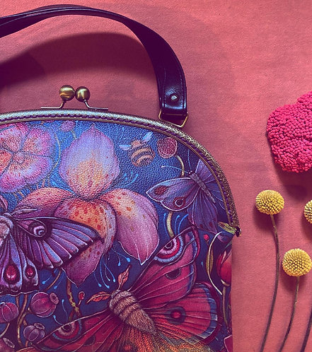 'Tropical Butterfly' bag with metal clasp