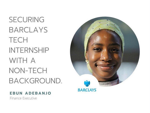 Securing Barclays Tech Internship with Non-tech Background