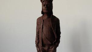 Bear en chocolat, sculpture, 2014