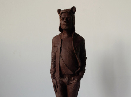 Bear en chocolat, sculpture, 2014