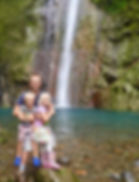 Jason, kids and the waterfall.jpg