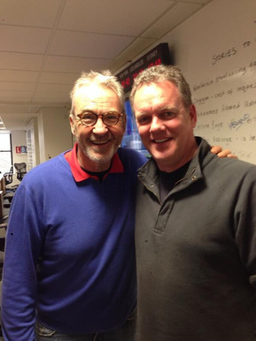 With Larry Lamb