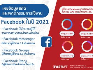 เผยข้อมูลสถิติและพฤติกรรมการใช้งาน Facebook ในปี 2021