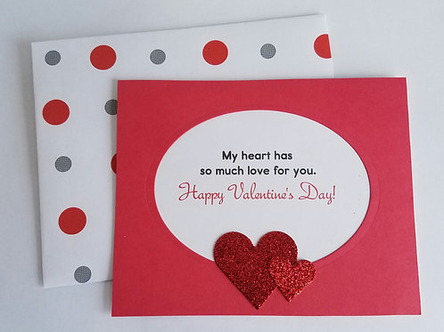 Open Hearts Valentine's Day Card