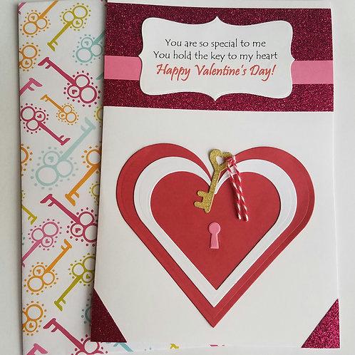 Key to my Heart Valentine's Day Card