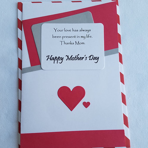 Shape of Love Mother's Day Card