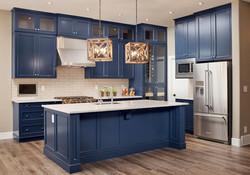 Blue-clutter-free-kitchen-