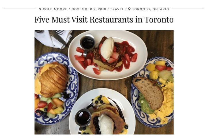 Five Must Visit Restaurants in Toronto