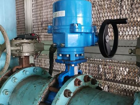 電子廠-90度轉電動驅動器  electric plant-Quarter turn project