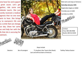 Join In The Middle for a Poker Run to help raise money for the Polka.Dot.Queen, AKA Lauren Long, a s