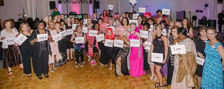 group of breast cancer survivors