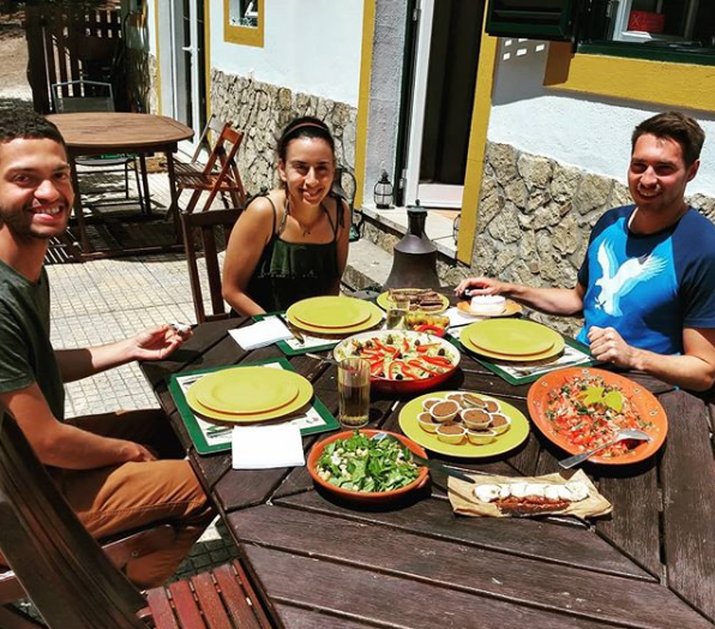 Clients enjoying the food we prepared