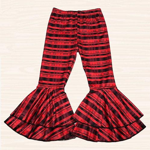 Red stripe bell bottoms