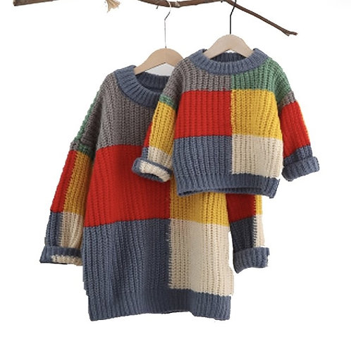 Color blocked knitted sweater *Baby girl*