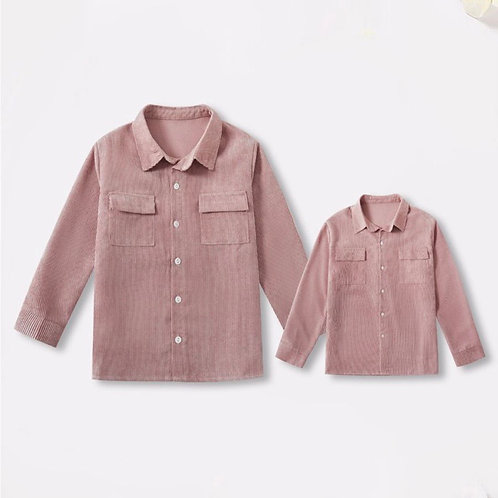 Pink Corduroy button down (Adults)
