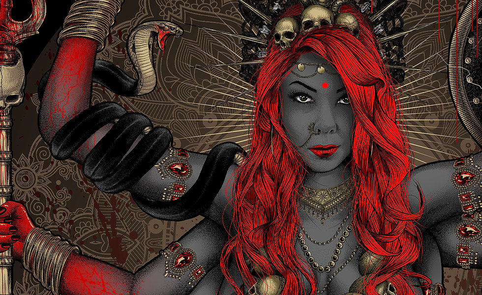 graveart-kali-redhead-redhair-red-godess