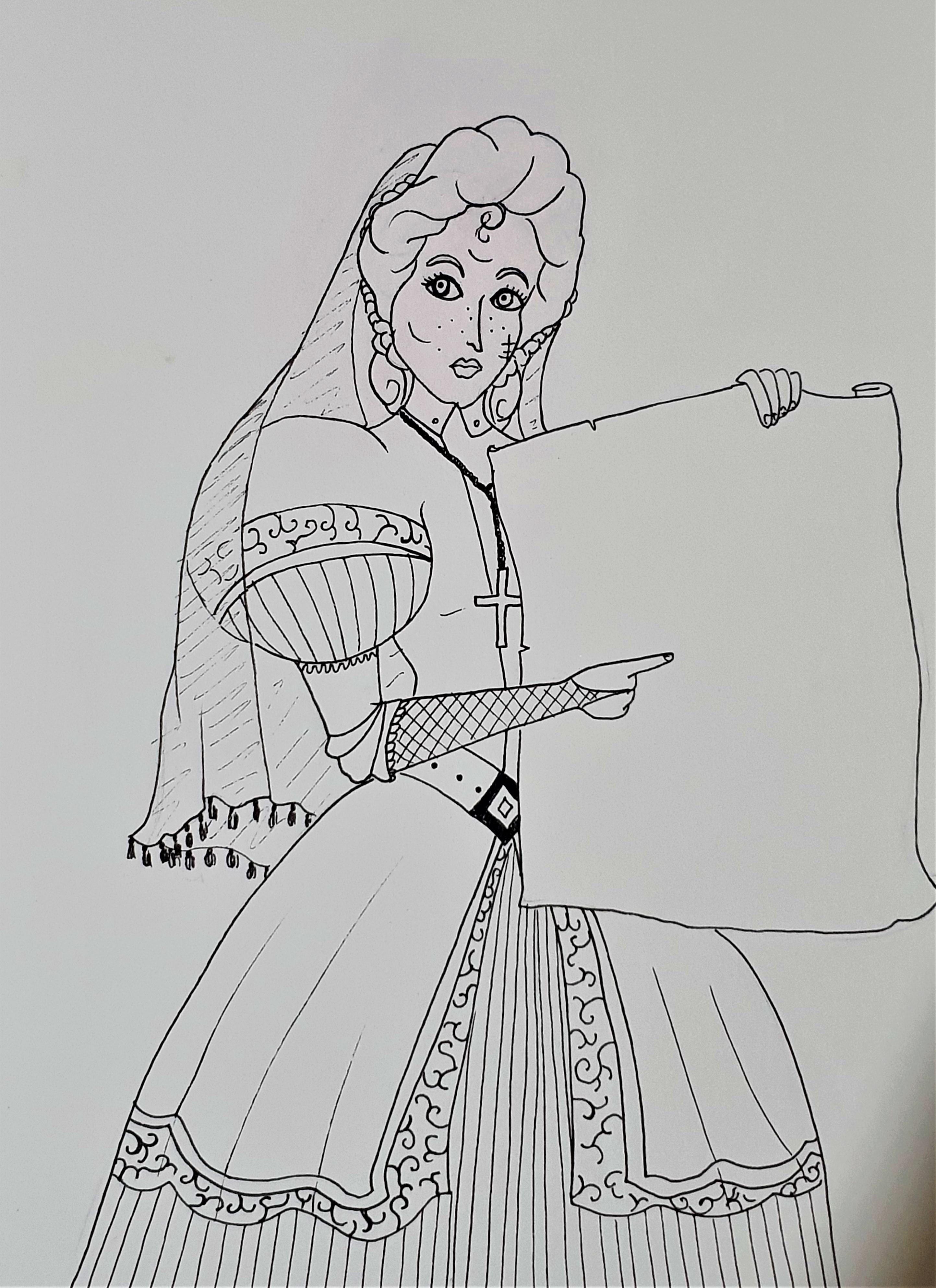 """Abigale Weiss -Ilustração para publicação do livro """"Procura-se""""de Rafael Mallagutti"""