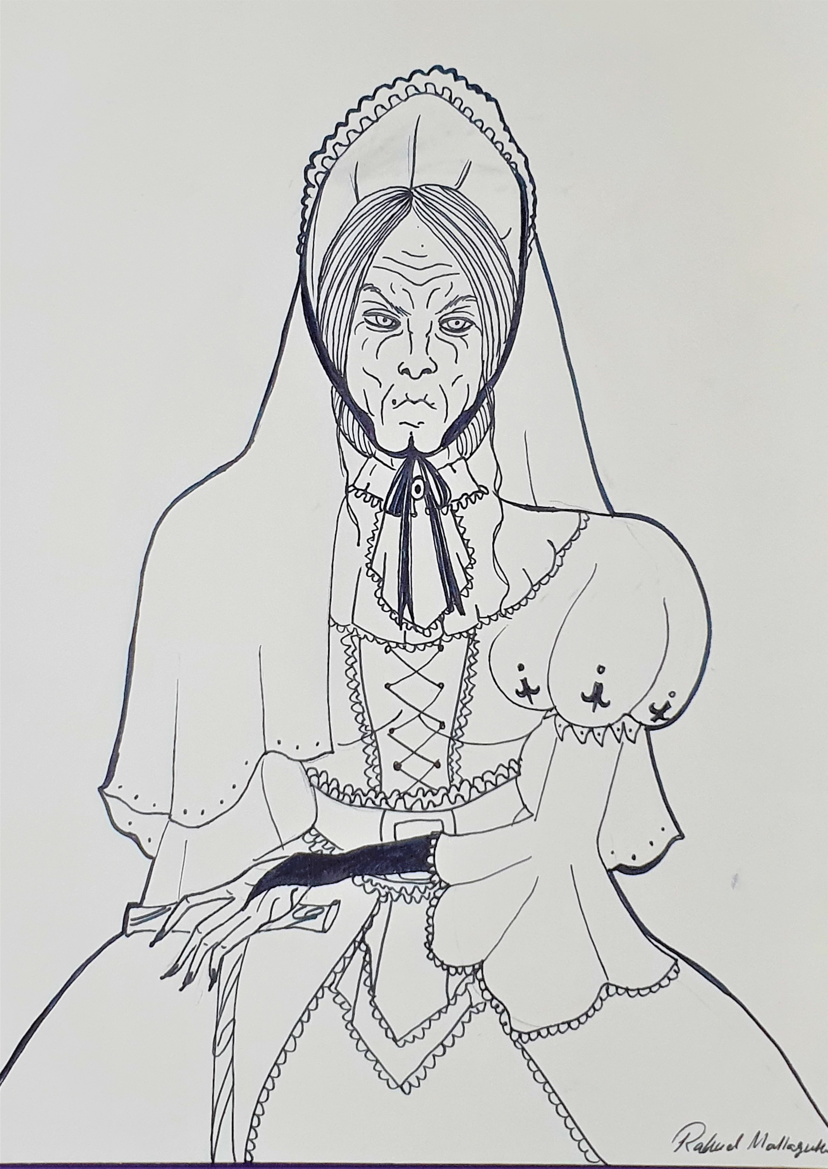 """Hildegarde Armstrong -Ilustração para publicação do livro """"Procura-se""""de Rafael Mallagutti"""