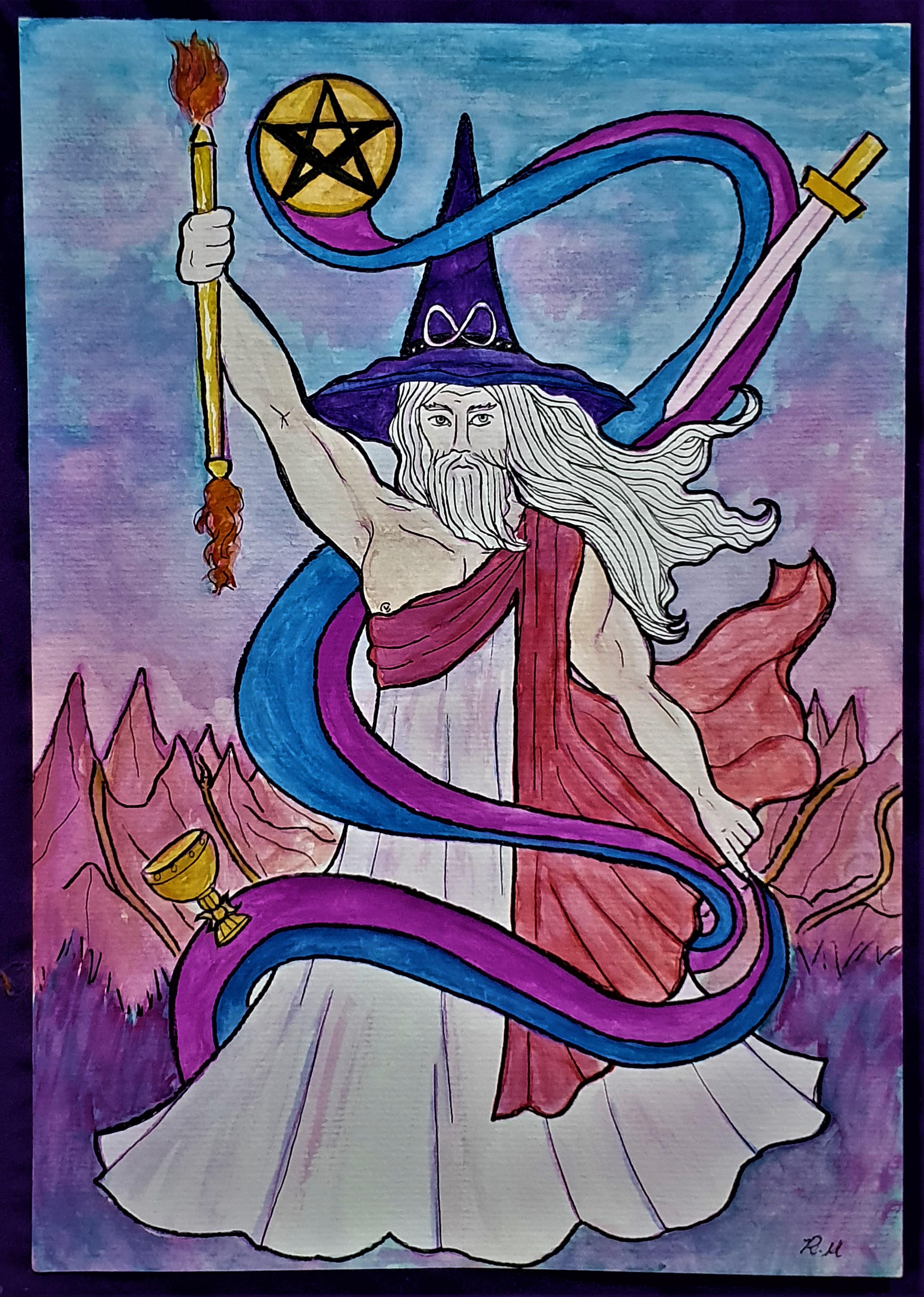 O Mago - Ilustração para o Tarô Lavanda