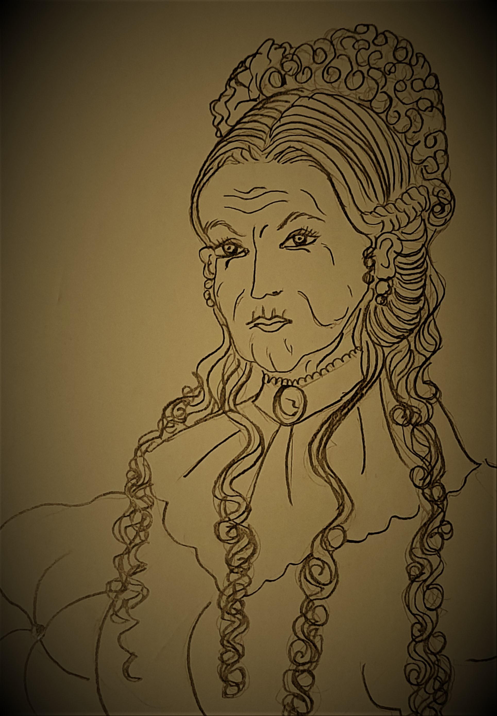 """Ms. Geraldine Banks -Ilustração para publicação do livro """"Procura-se""""de Rafael Mallagutti"""