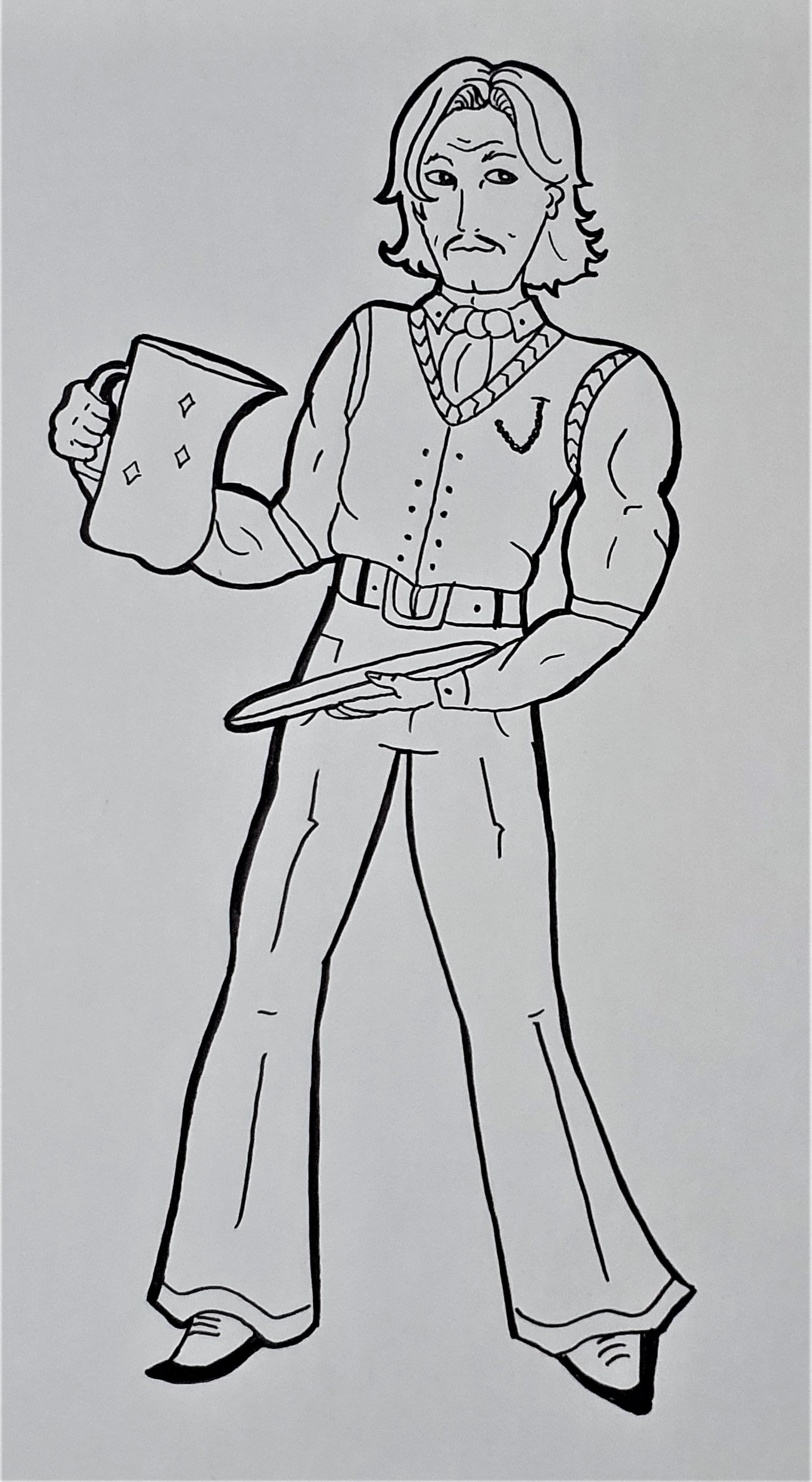 """Alejandro -Ilustração para publicação do livro """"Procura-se""""de Rafael Mallagutti"""
