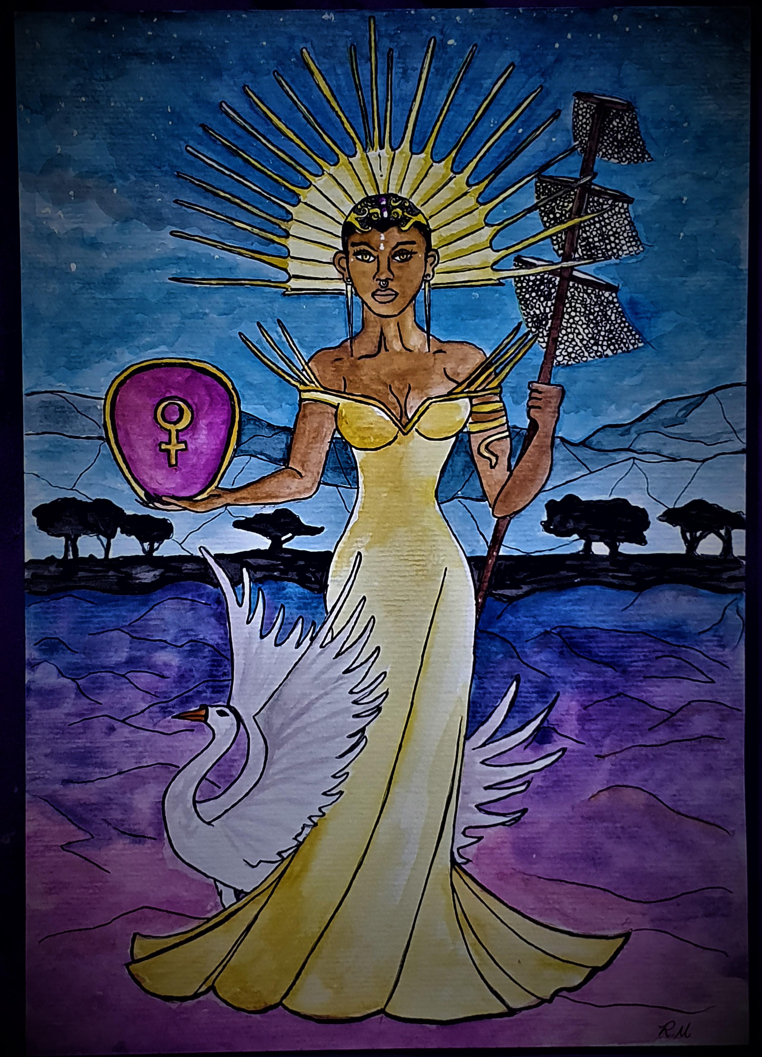 A Imperatriz - Ilustração feita para o tarô Lavanda