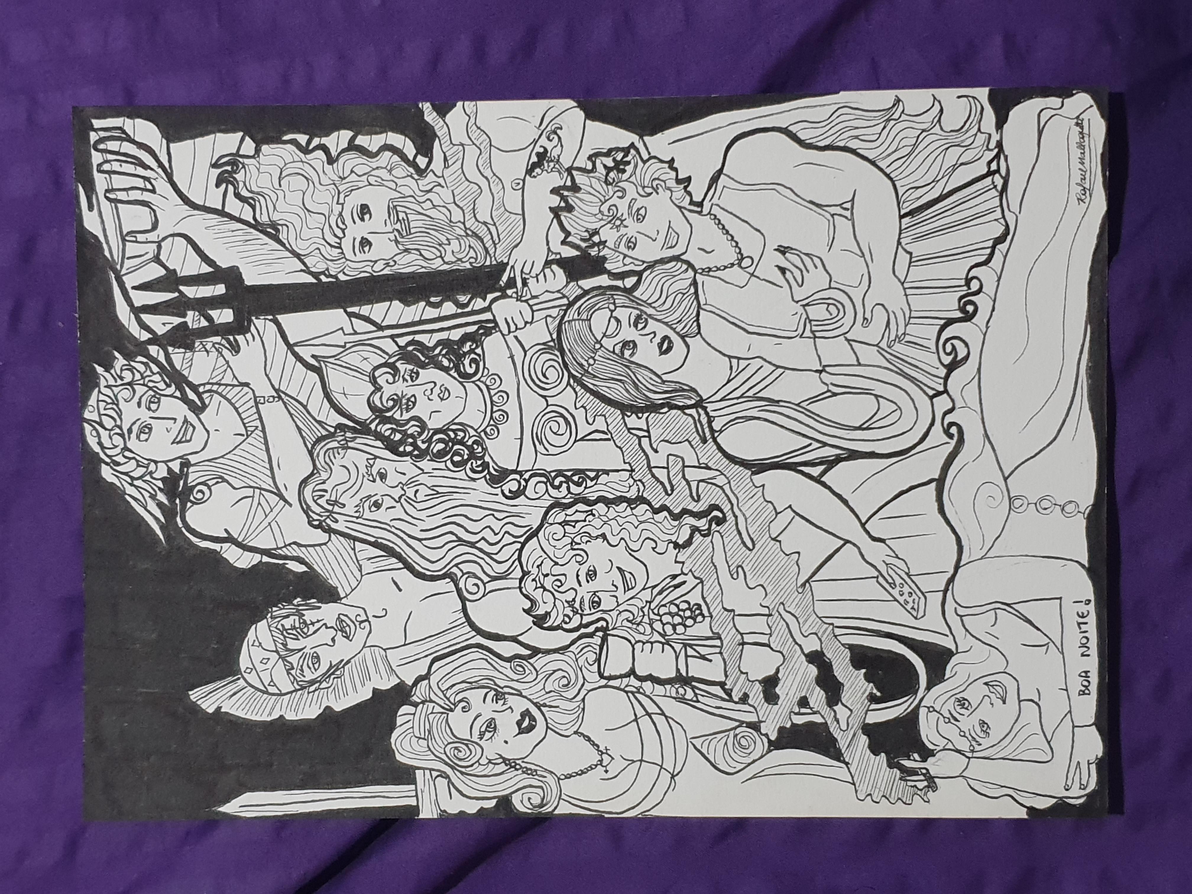 Manjar dos Deuses - ilustração para publicação da dramaturgia de Rafael Mallagutti