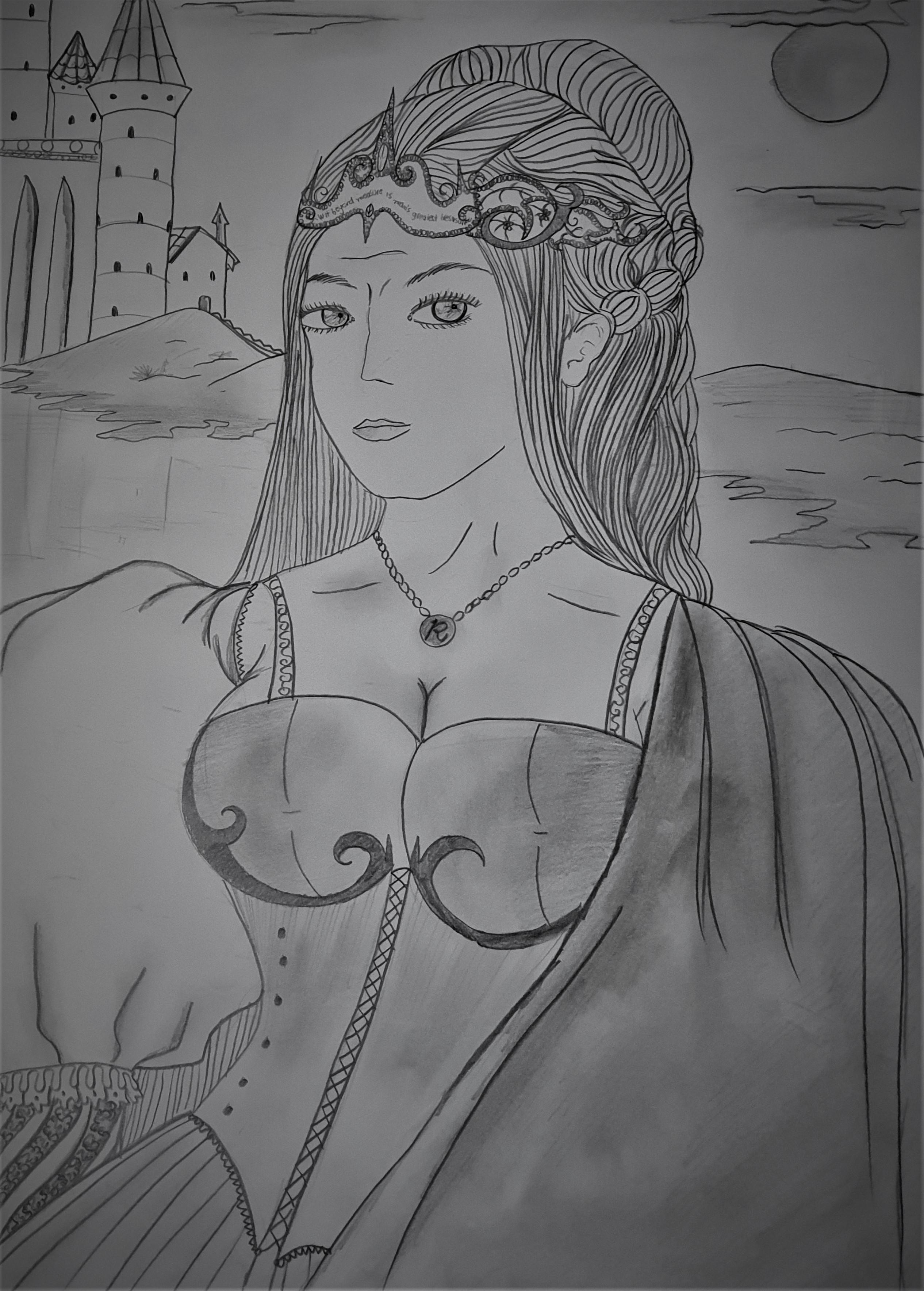 Rowena Ravenclaw - fanart inspirada no Mundo mágico de Harry Potter.