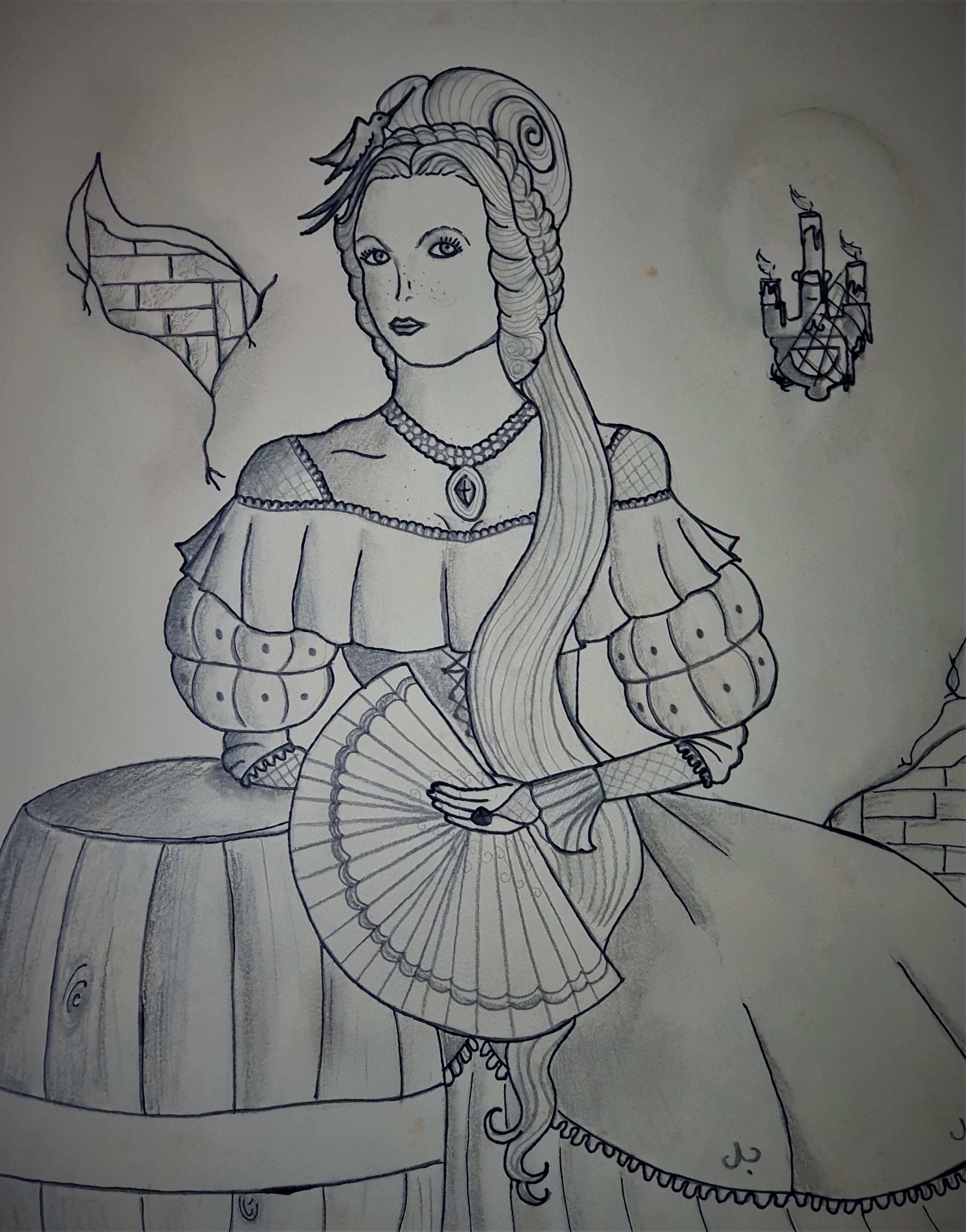 """Suzana no porão dos Banks -Ilustração para publicação do livro """"Procura-se""""de Rafael Mallagutti"""