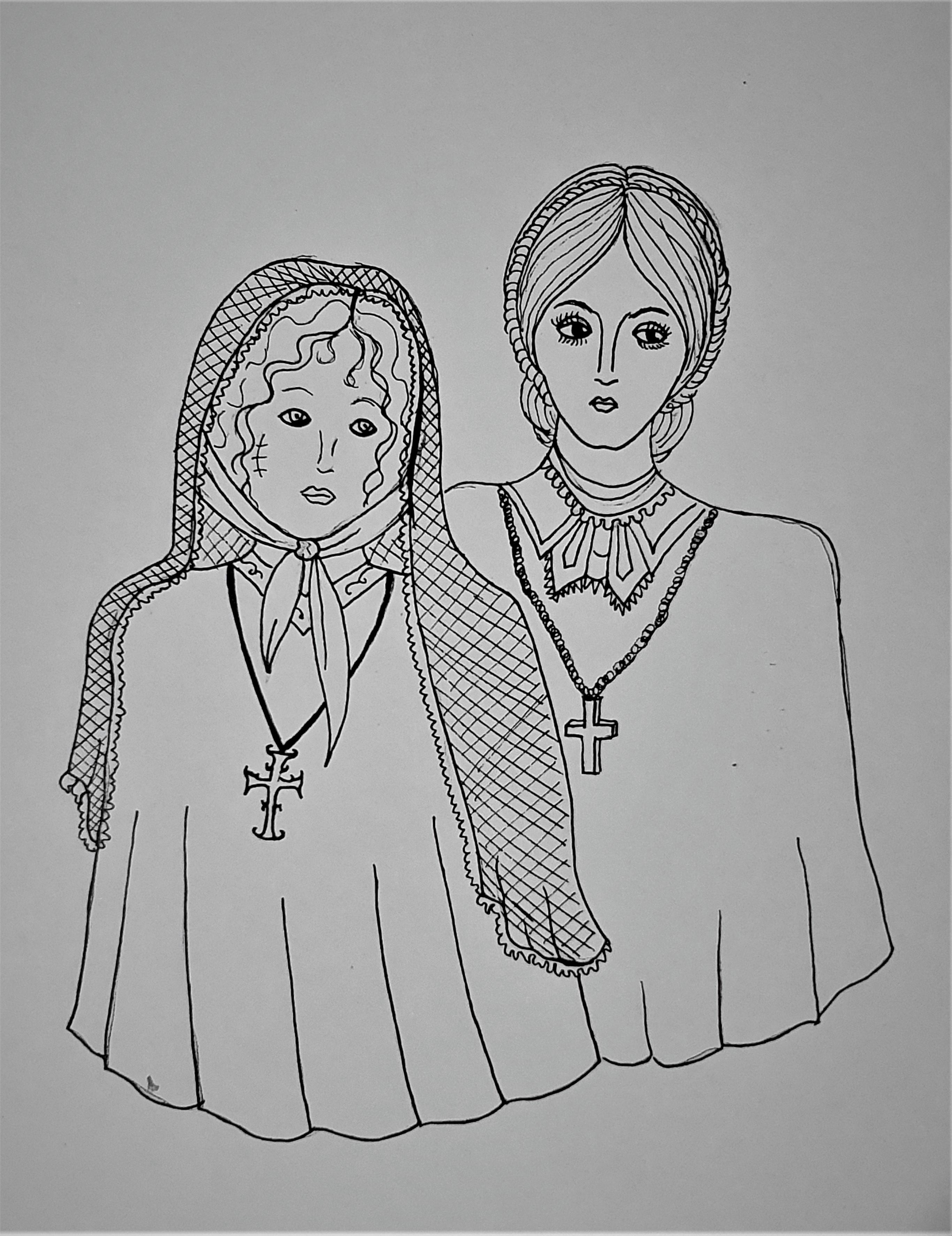 """Beatas -Ilustração para publicação do livro """"Procura-se""""de Rafael Mallagutti"""