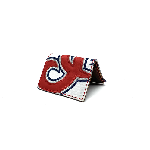 Cleveland Baseball Jersey Fold Over Wallet