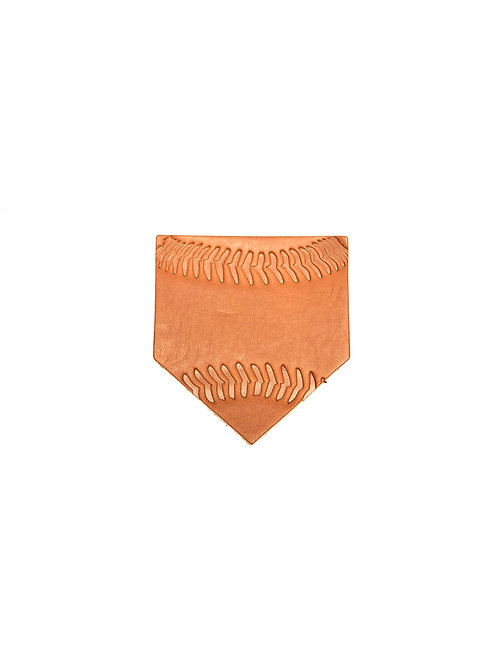 Baseball Stitching Leather Homeplate Coasters - Set of 4