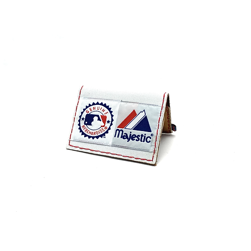 Cleveland Baseball Jersey Fold Over Wallet