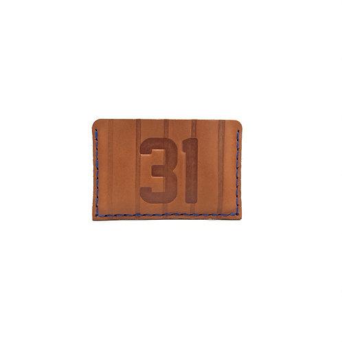 #31 HOF Player Pinstripe Leather Wallet