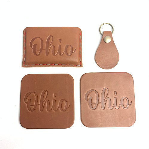 Ohio Script Slide-In Wallet Set